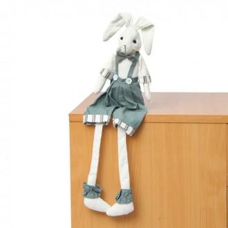 """Мягкая игрушка """"Зайка"""", висячие ножки 65 см (под заказ)"""