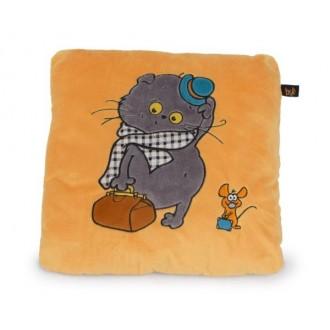 Игрушка-подушка Кот Басик путешественник
