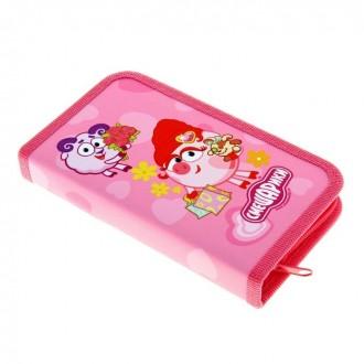 """Пенал-одинарный """"Смешарики"""" розовый 20 × 3 × 15 см (под заказ)"""