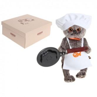 """Мягкая игрушка """"Басик- повар со сковородкой"""" 25 см"""