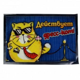 """Коврик с резиновым дном """"Дресс-кот"""" 57 × 37см (под заказ)"""