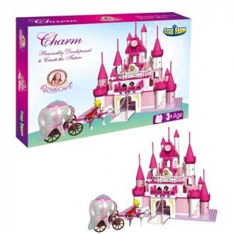 """Конструктор для девочек """"Замок принцессы"""", 500 деталей 40,4 × 7,4 × 30,3 см"""