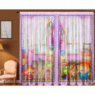"""Комплект штор """"Игротека"""", ширина 145 см, высота 270 см +/-5 см-2 штуки"""