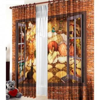 """Комплект штор """"Окно"""", ширина 145 см, высота 270 см +/-5 см-2 штуки"""