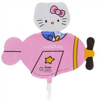 "Шар фольгированный ""Hello Kitty"" самолет (20 см)"