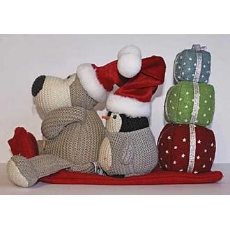 Буффи на санях с подарками (15 см)