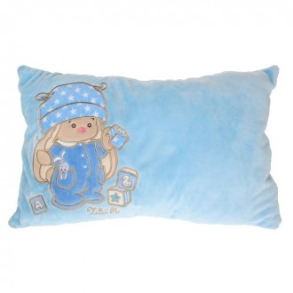 """Подушка """"Зайка Ми"""" голубая (40 × 22 × 13 см)"""