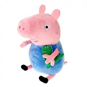 """Мягкая игрушка """"Джордж с динозавром"""" 40 см (под заказ)"""