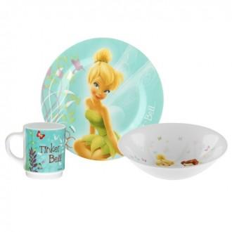 Набор детский 3 предмета FAIRIES BEAUTIES (тарелка 19 см,пиала 16 см,кружка 250 мл) под заказ