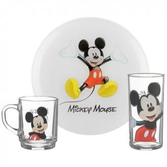 Набор детский 3 предмета MICKEY COLORS (тарелка 19 см,стакан,кружка 250 мл) под заказ