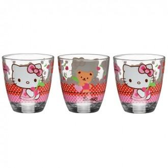"Набор стаканов 160 мл ""Hello Kitty. Вишенка"", 3 шт (под заказ)"