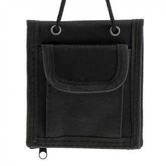 Кошелек-органайзер для путешествий на шнуре черный 11,5 × 10 см