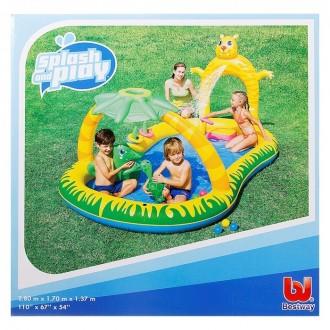 """Игровой бассейн """"Джунгли"""", 280 х 170 х 137 см, 346 л + шарики, надувные кольца, брызгалка (под заказ)"""