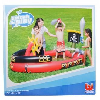 "Игровой бассейн ""Пираты"", 190 х140 х96 см, 190 л +2 меча, водяная пушка, штурвал (под заказ)"