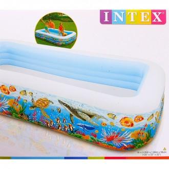 Бассейн надувной Цветные рыбки 305х183х56 см, от 6 лет (под заказ)