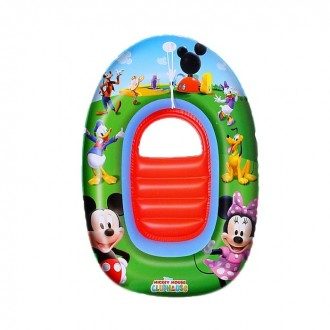 "Лодка надувная детская ""Микки Маус"", 102 х 69 см, от 3-6 лет"
