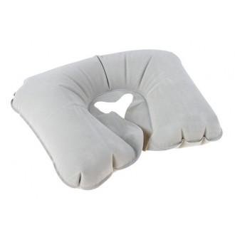Подушка дорожная надувная серая