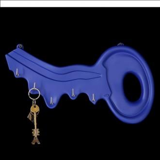 """Ключница """"Ключ"""" синяя 22 × 40 × 5 см (под заказ)"""
