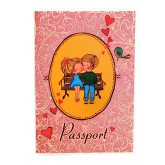 """Обложка для паспорта """"Нежность"""", с блестками"""