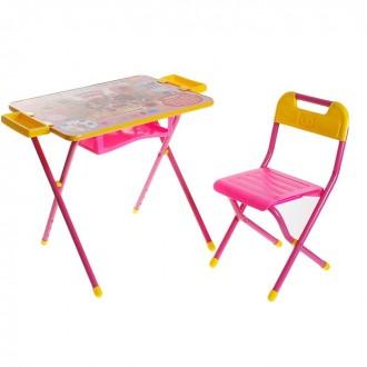 """Набор детской мебели """"Дэми 3. Винни Пух"""" складной: стол, стул и пенал, цвет розовый"""