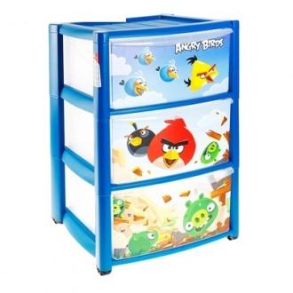 Комод для игрушек Angry Birds на колесиках