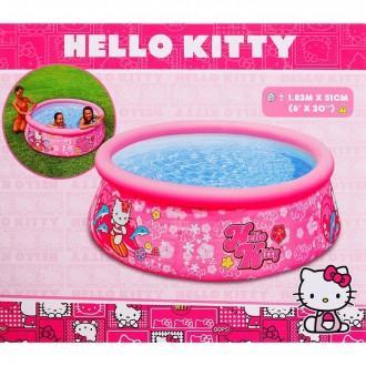 Бассейн надувной детский Hello Kitty 183х60см, от 3 лет (под заказ)