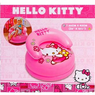 Кресло надувное Hello Kitty 66х41 см, от 3 до 8 (под заказ)