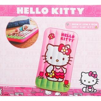 "Кровать надувная детская ""Hello Kitty"", 157,5х86,5х18см, от 3 до 10 лет"