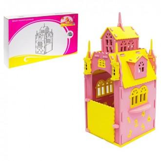 Домик игровой, цвет розовый 57 × 63 × 125 см