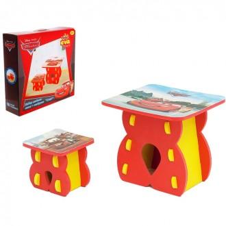 """Набор детской мебели """"Тачки"""": стол и табурет"""