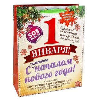 "Пакет ламинат S ""1 января""(12*15 см)"