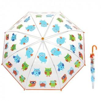 """Зонт детский """"Совушка"""", диаметр 77 см (под заказ)"""