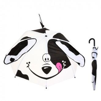 """Зонт детский """"Далматинец"""" с ушками и хвостиком, диаметр 74 см (под заказ)"""
