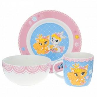 """Набор детской посуды """"Самая красивая"""", 3 предмета, тарелка, салатник, кружка"""