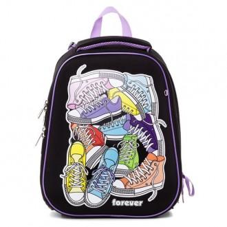 Ранец для школы Hatber ERGONOMIC-Модные кеды- 37X29X17 см