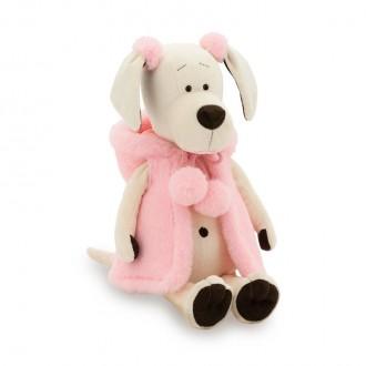 Собачка Лапуська: Меховой стиль (25 cм)