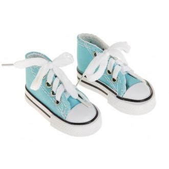Кеды для игрушек, длина стопы 7,5 см, цвет голубой