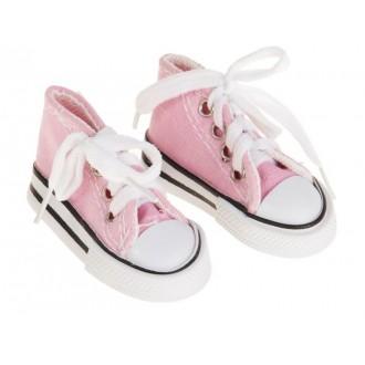 Кеды для игрушек, длина стопы 7,5 см, цвет розовый