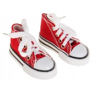 Кеды для игрушек, длина стопы 7,5 см, цвет красный