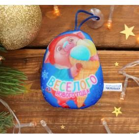 "Брелок антистресс на присоске ""Веселого Нового года!"" хрюша 10 см"