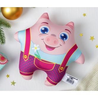 """Мягкая игрушка-антисресс """"Модная хрюша"""", ромашка (15 см)"""