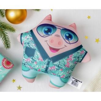 """Мягкая игрушка-антисресс """"Модная хрюша"""" в очках (15 см)"""
