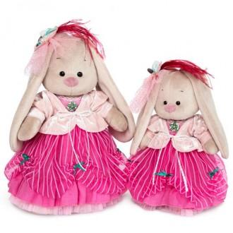 Зайка Ми барышня в карамельно-розовом (25 см)