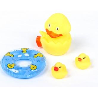 Набор для игры в ванне «Утята с кругом», 3 шт