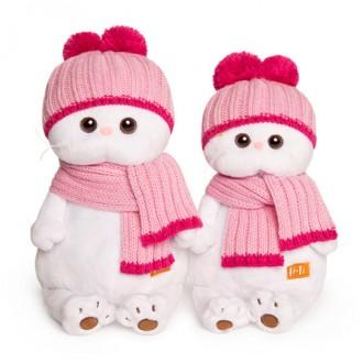 Кошечка Ли-Ли в розовой шапке с шарфом (27 см)