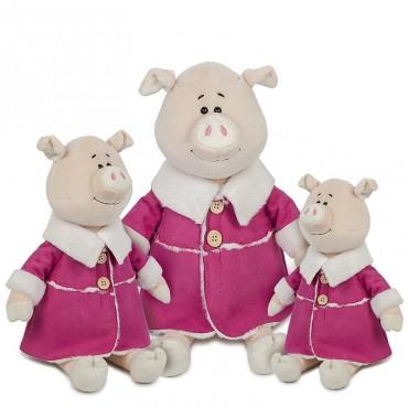 Свинка Глаша в Дубленке (22 см)