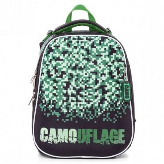 Школьный ранец Hatber ERGONOMIC -Camouflage- 37X29X17 см