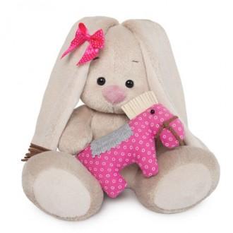 Зайка Ми с розовой игрушкой-лошадкой (малыш) 15 см