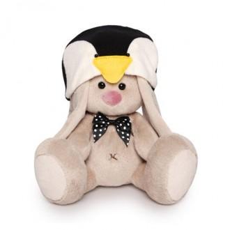 Зайка Ми в шапке пингвина (малыш) 15 см