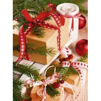 Новогодний подарочный пакет 26х32см